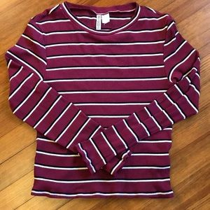 H&M striped ribbed tee